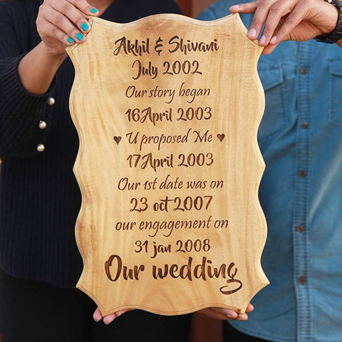Personalized Engraved Wooden Frame