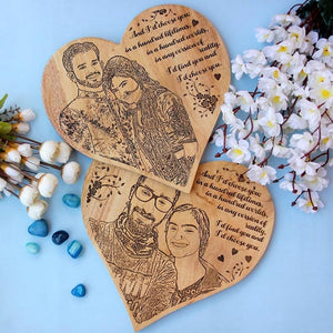 personalized heart shaped wooden poster