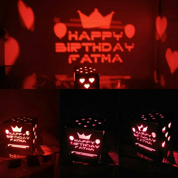 Wooden Engraved Shadow Message  LED Lamp