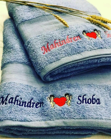 Personalized Egyptian Bath Towel (Embroidered Name)