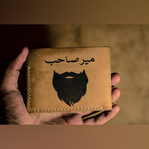 Engraved Name Leather Men's Wallet
