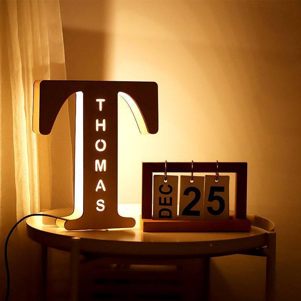 Wooden Engraved Name Wall Light Personalized Night Light(H 1.5 Feet x W 1 Feet) ⭐️⭐️⭐️⭐️⭐️  CUSTOMER REVIEWS