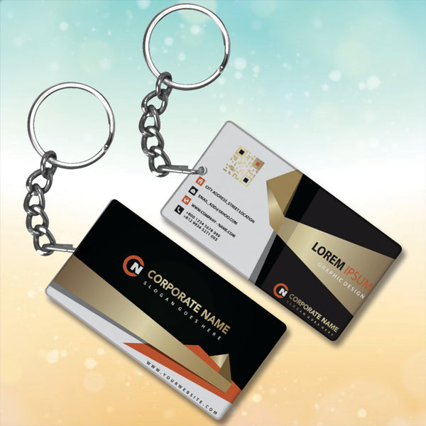 Business Card Metal Key-Chain with Your Company Name