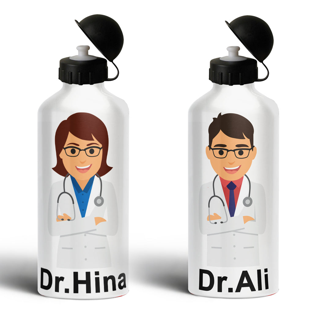 Doctor 'Name' Water Bottle(100%Stainless Steel)