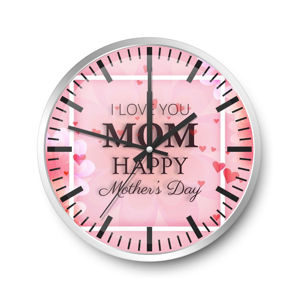 For Mother Wall Clock Edelweiss