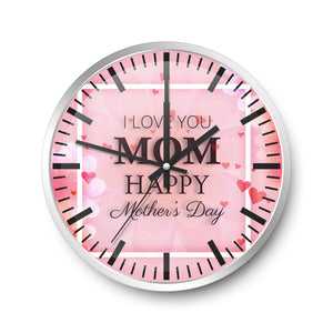 For Mother Wall Clock Carnation