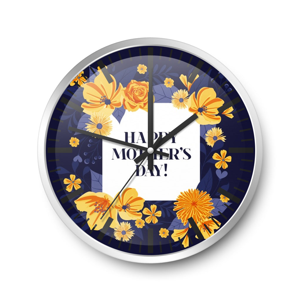 For Mother Wall Clock Gladiolus