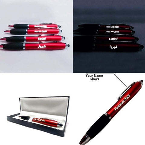 Led Name Pen With Stylus Touch