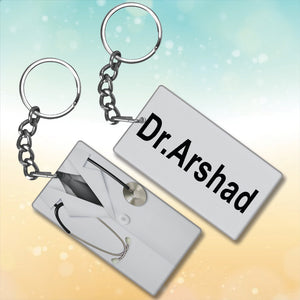 Doctor Metal Key-Chain With Name