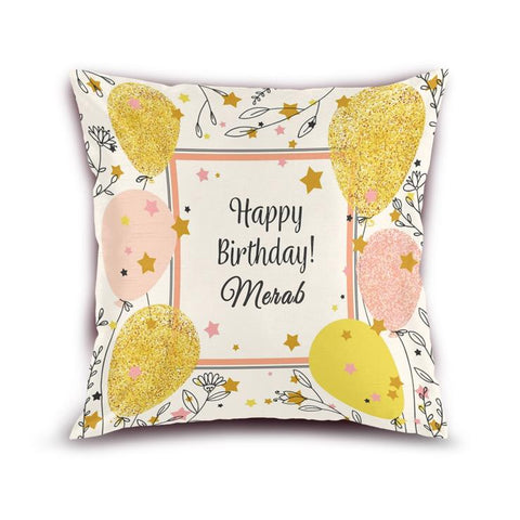 Customize Your Birthday  Cushion
