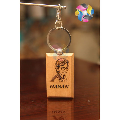 Personalized Bamboo Wood Key-Chain