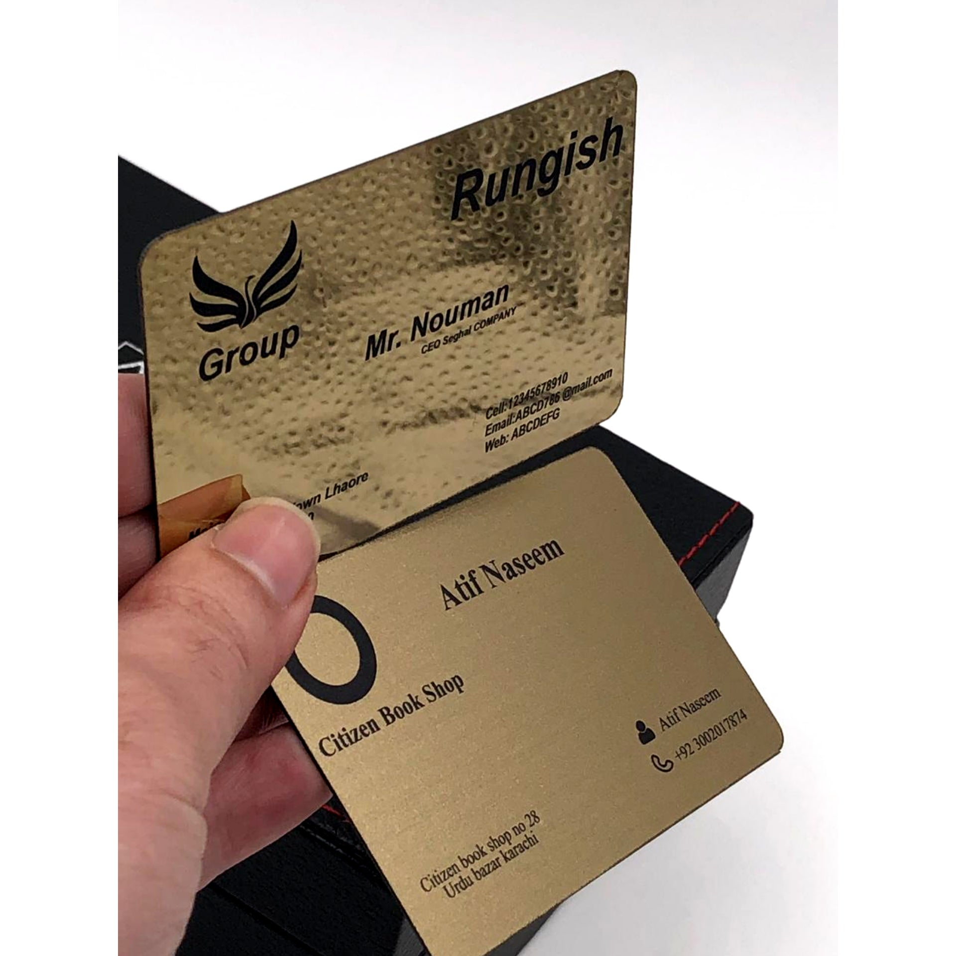 Gold Plated Metal Business Card