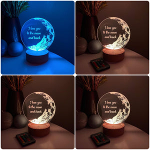 Personalized 3D Illusion LED Moon LAMP(10 Inches Height x 8-inch Width)