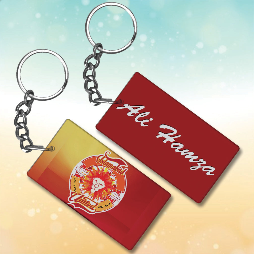 Islamabad United Metal key chain With Name