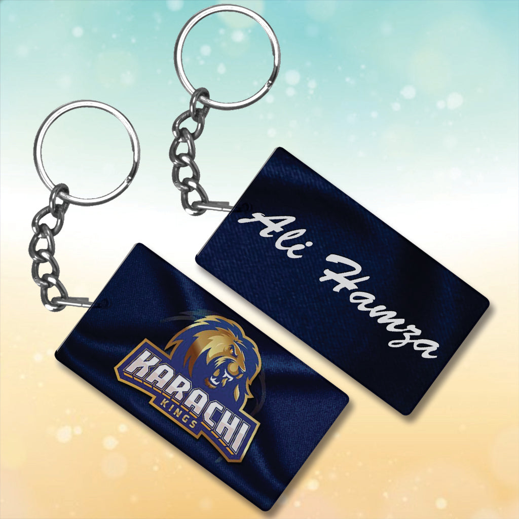 Karachi Kings Metal key chain With Name