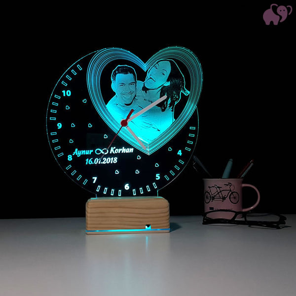Personalized 3D Illusion LED LAMP(10 Inches Height x 8-inch Width)