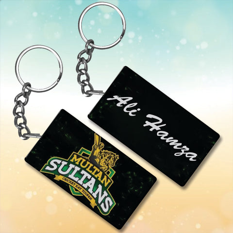 Multan Sultan Metal key chain With Name