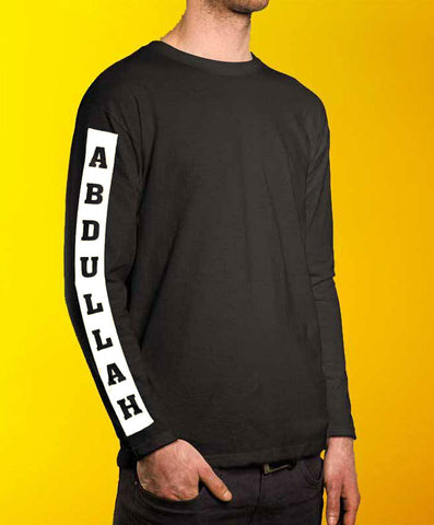 Sleeve Name Customise Sweatshirt