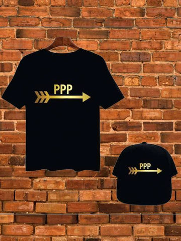 Custom Name PPP Black T-Shirt