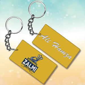 Peshawer Zalmi Metal key chain With Name
