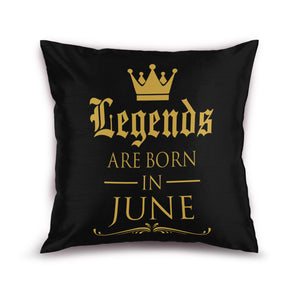 Born in June Gold Foiled Cushion