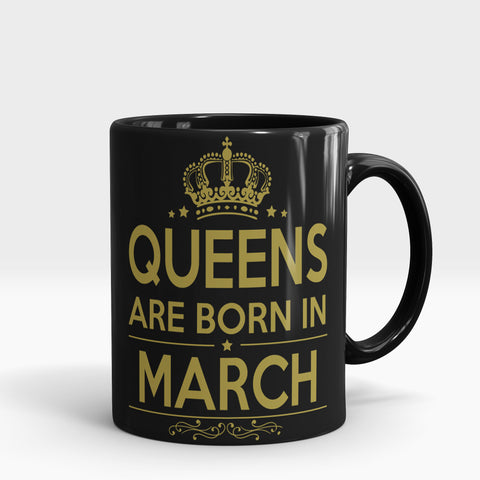 Queens Born in March Mug