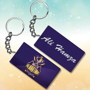 Queeta Gladiators Metal key chain With Name