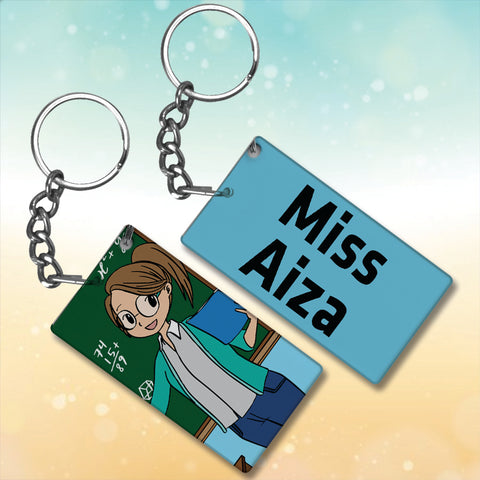 Teacher Metal Key-Chain With Name
