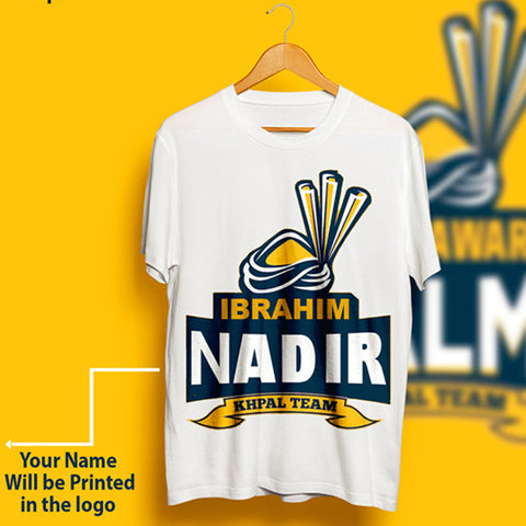 Peshawer Zalmi T-Shirt With Name