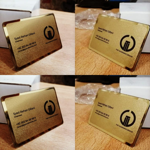 Presidential Brass Gold Business Card