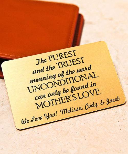 Personalized Wallet Card, Mini Love Note, Metal Wallet Card