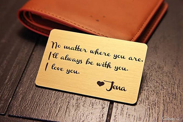 Personalized Wallet Card, Mini Love Note, Metal Wallet Card-