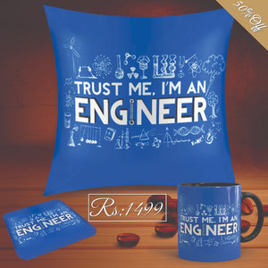Eng Super Deal(Mug+Cushion+Coaster)