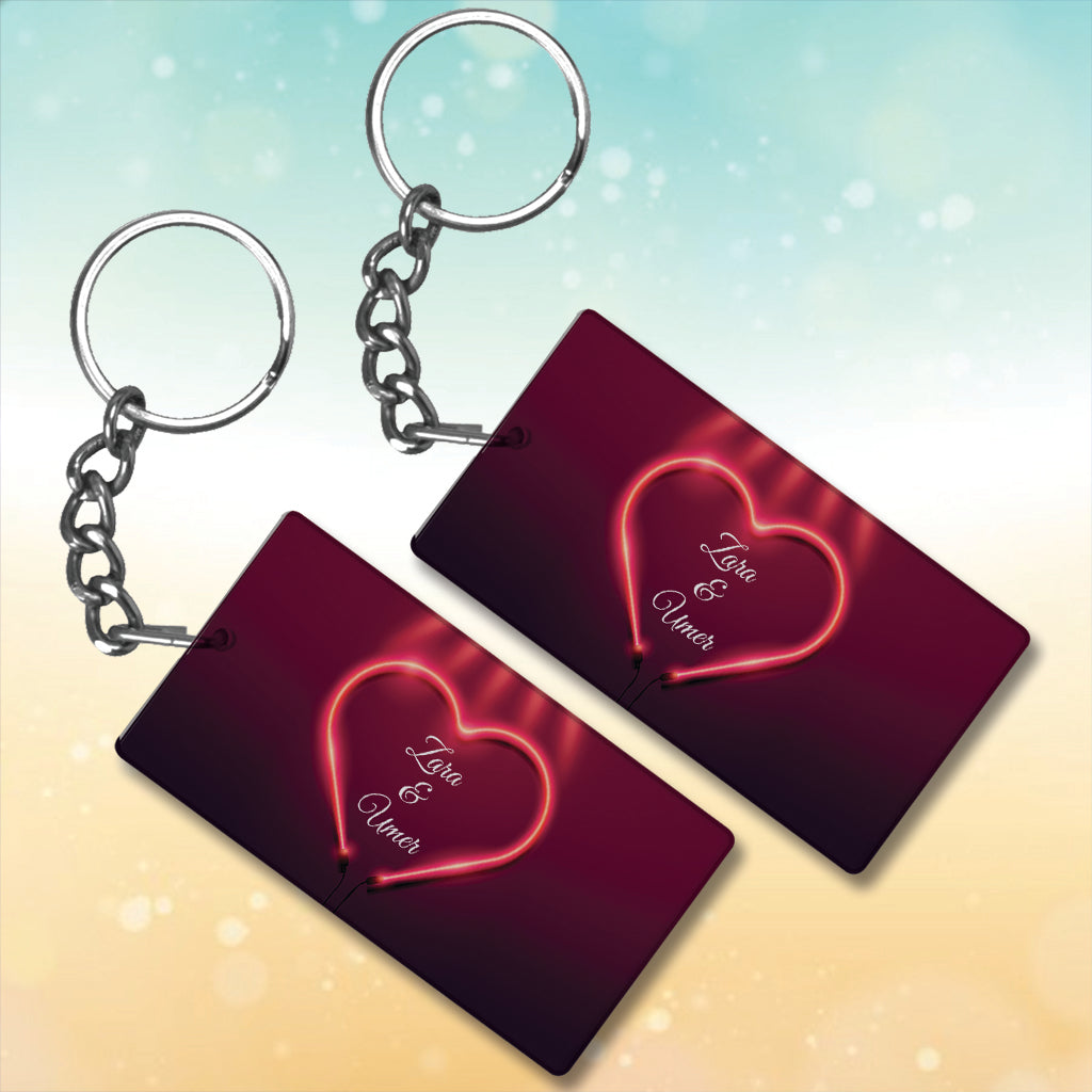 Valentines Day  Metal Key-Chain with Your Name