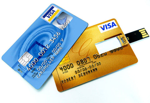 Custom Printed Credit Card Shaped USB Flash Drive