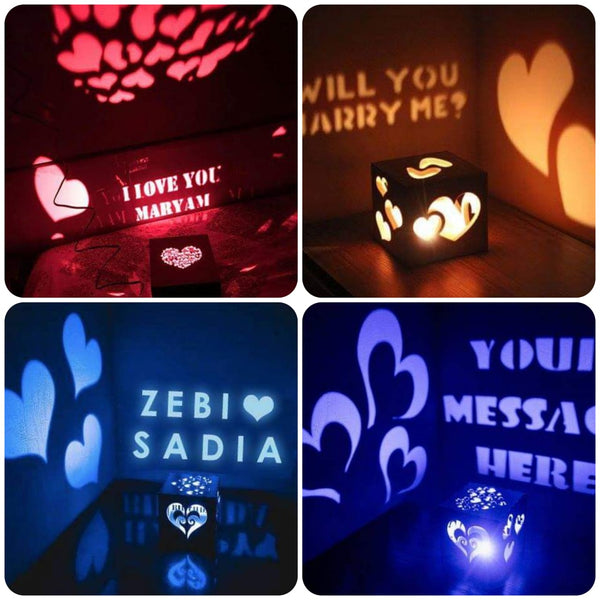 Engraved Shadow Message LED Lamp