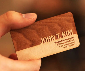 Executive Wooden Engraved Visiting Card