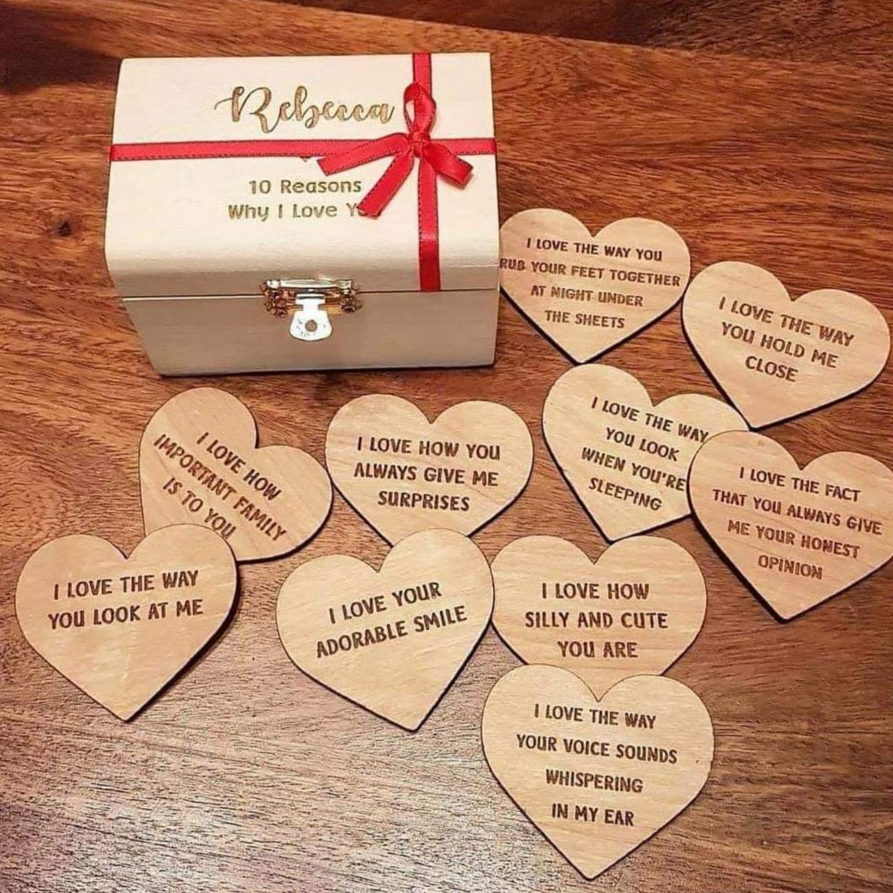"Personalised Treasure Chest ""10 Reasons Why I Love You"""