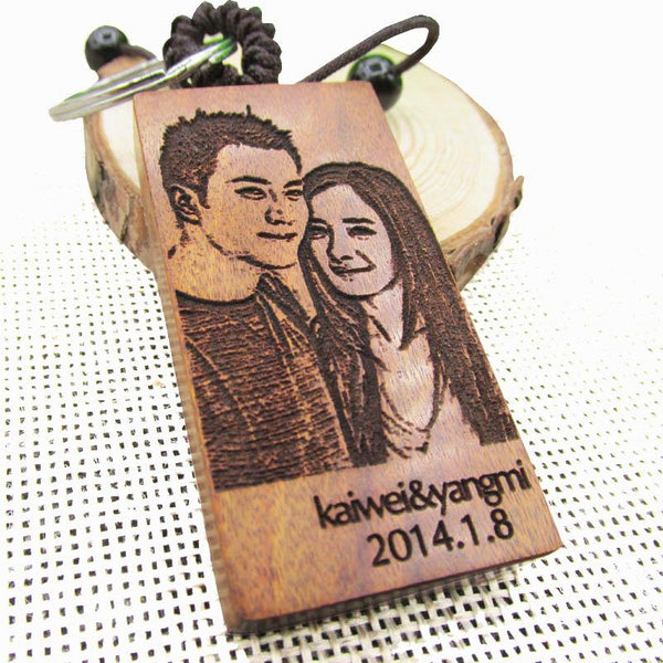 Laser Engraved Photo Keychain