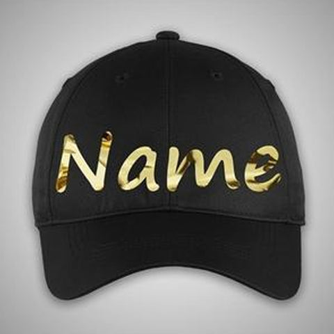 Custom Gold Name Cap