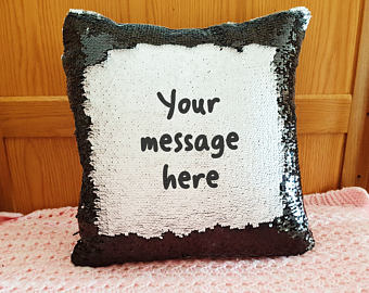 Customized  Sequin Reveal Cushion