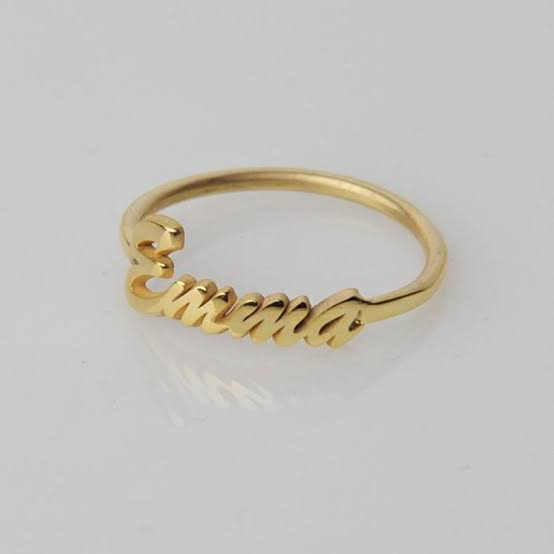 Personalized Gold Plated Ring