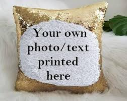 Customized Reversible Sequin Cushion