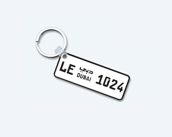 Metal Key-Chains with Car Number