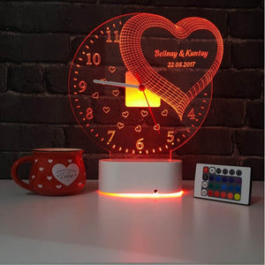 Romantic LED Lamp Clock