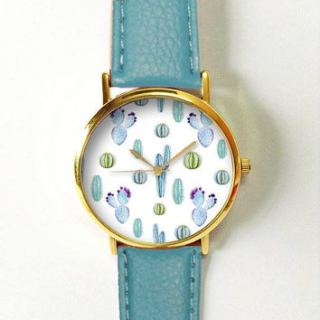 Personalized Ladies' AF Leather Strap Watch
