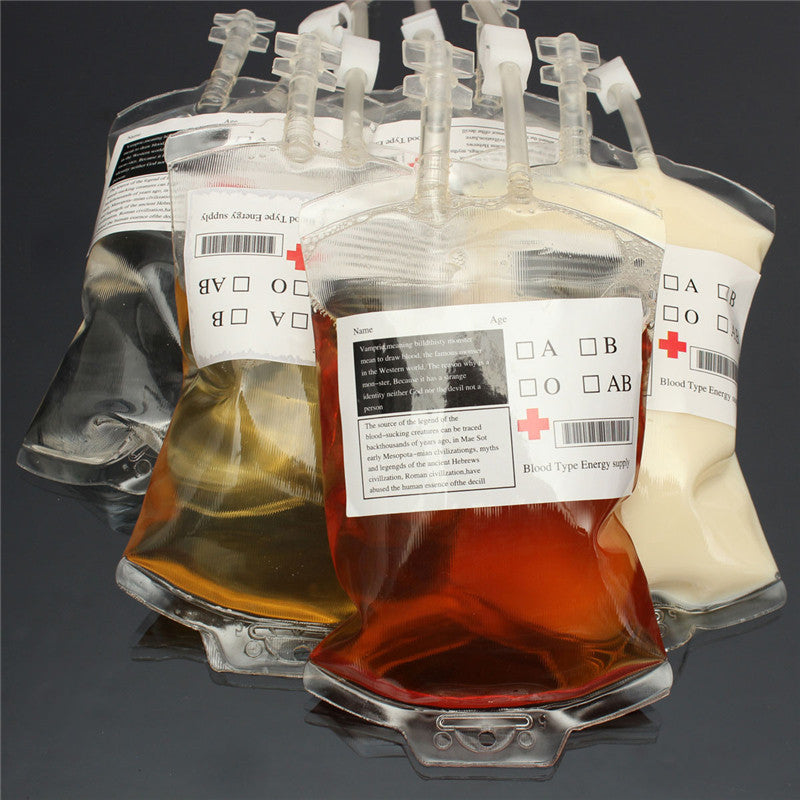 Fake Blood Bag Drink Container 4 pcs/lot