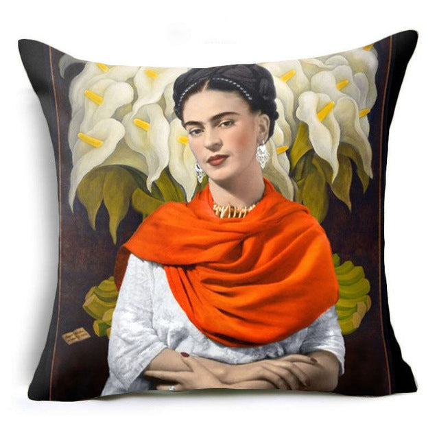 Frida Kahlo Portrait Pillow Cover