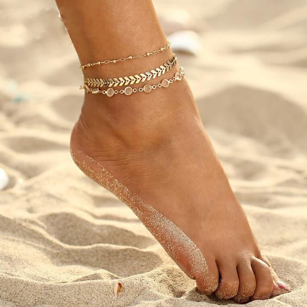 Beach Anklet Set