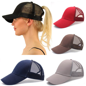 Ponytail Hair Cap Women
